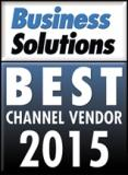 Business Solutions magazine logo for Best Channel Vendor in 2015