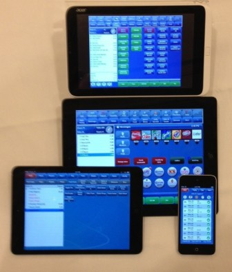 Focus Mobile POS shown on ipad, iphone, ipad mini and rdp