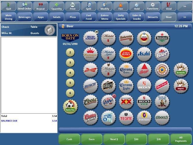 Focus Point Of Sale Screen Shots For Restaurants And Retail