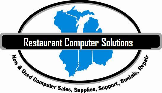 rcs logo for Restaurant Computer Solutions, new and used computer sales, supplies, support, rental, repair